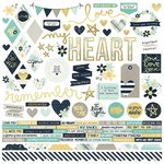 "Simple Stories - Heart: Combo Cardstock Stickers 12""x12"""
