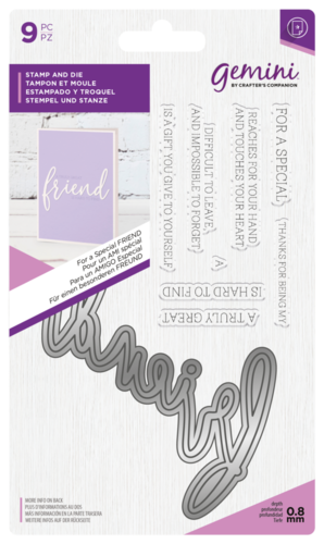 Gemini - Stamp and Die: Friend (Stanz-und-Stempel-Set)