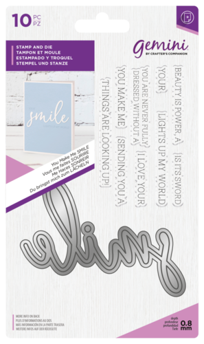 Gemini - Stamp and Die: Smile (Stanz-und-Stempel-Set)
