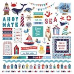 "Photo Play - Monterey Bay: Element Stickers 12""x12"""