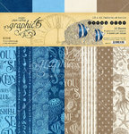 "Graphic 45 - Ocean Blue: Patterns & Solids Paper Pad 12x12"" (16 Bögen)"