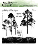 Picket Fence - Clear Stamps: Watercolor Trees and Bushes