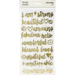 Simple Stories - I Am: Foil Foam Stickers - Gold (57 St.)