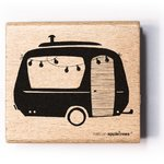 Cats on Appletrees - Holzstempel: Wohnwagen 2