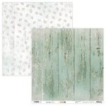 "Studio Light - Winter Charm: Holzmuster mint #92 Paper 12""x12"""