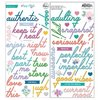 Pinkfresh Studio - Keeping It Real: Puffy Phrase Stickers (75 St.)